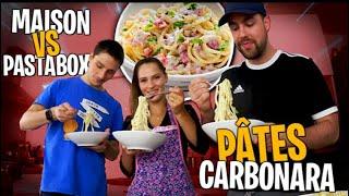 Pâtes carbo recette maison VS Pasta box avec mon jumeau..🍝
