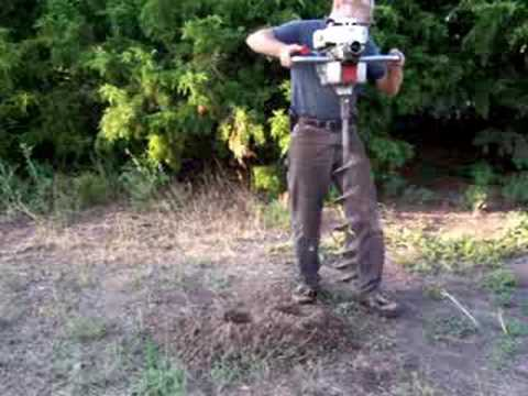 Auto Auger Post Hole Digger Youtube