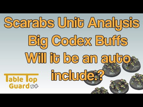 Necron Scarabs Unit Analysis: Big Codex Buffs. Will they be an Auto Include?