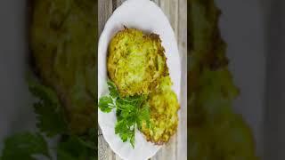 Драники из кабачков и картошки вкусный рецепт кабачковых оладьев с картофелем Shorts