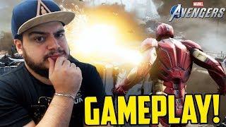 GAMEPLAY DE VINGADORES, MELHOR QUE SPIDER-MAN PS4?