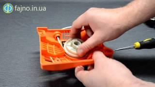 Ремонт бензопилы: замена пружины стартера