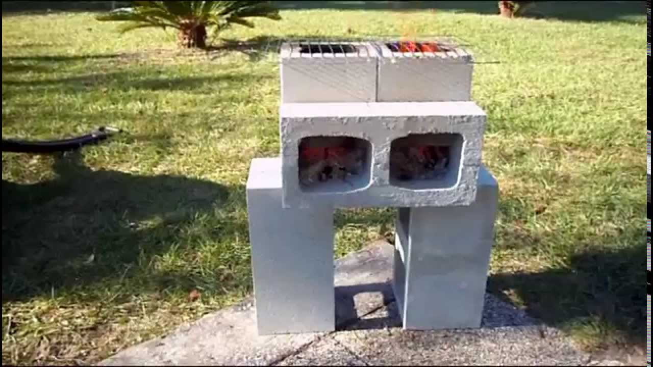 Cinder Block Outdoor Kitchen How To Build A Cinder Block Rocket Stove Youtube