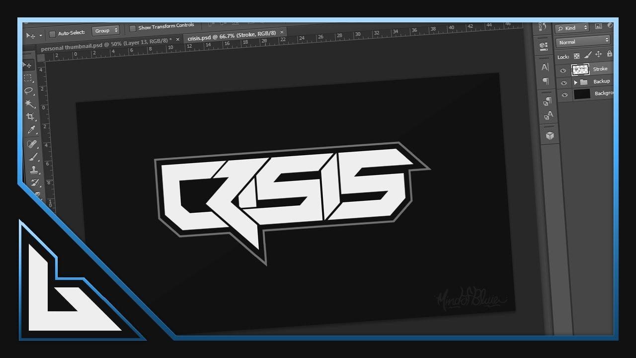 Speed Art: Crisis Contest Entry! (Text Logo!) - YouTube