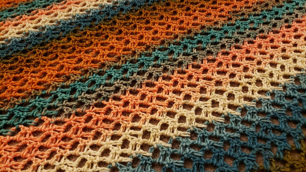 Lacy C2C Triangle Shawl - Crochet Tutorial!