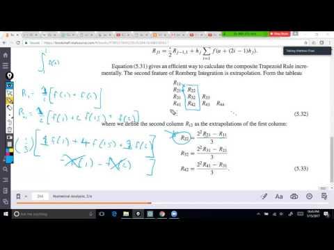 30 Numerical Analysis: Romberg Integration