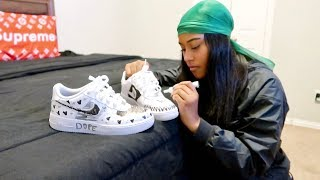 DRAWING ON MY GIRLFRIEND SHOES PRANK!!!