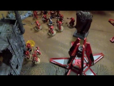 Warhammer 40k New Blood Angels (drop pods) vs Black Templar Crusaders - BAO Mission 1 - Battle Report and Tactics