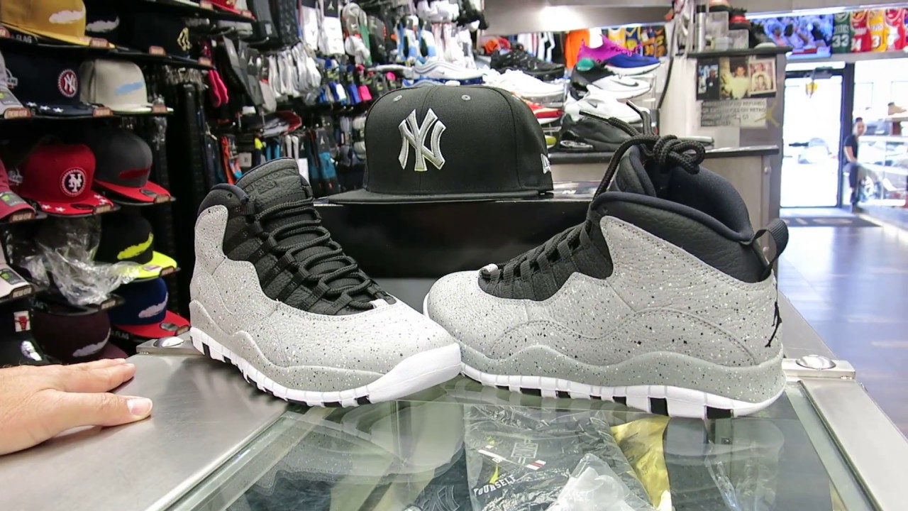 the best attitude c4d16 f846e Nike Air Jordan Retro 10 - Cement Grey, at Street Gear, Hempstead NY
