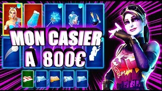 PRESENTATION OF MY SKIN CASIER A 800 EUROS ON FORTNITE!! FULL SKIN GIRL
