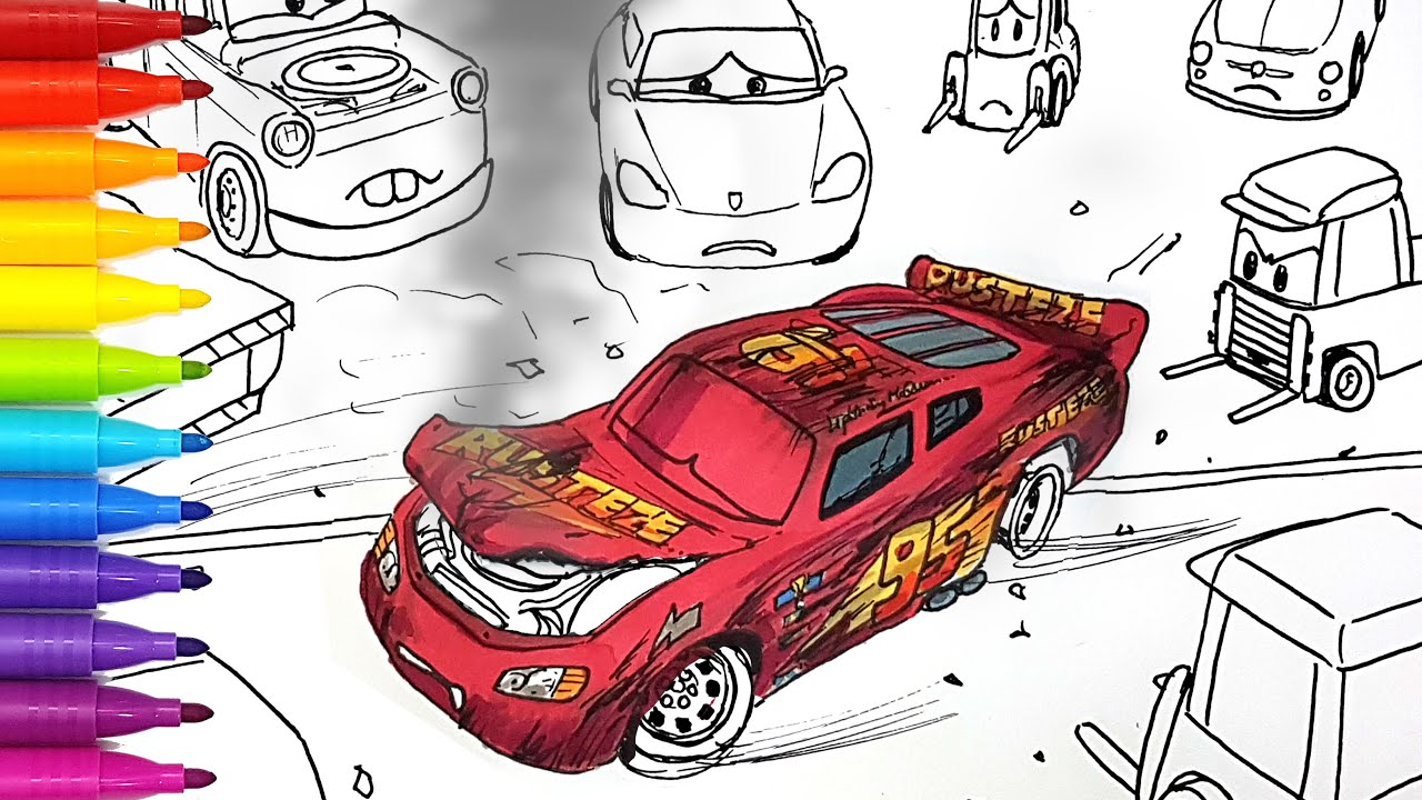 Draw Cars 3 Lightning Mcqueen S Crash Behind The Scene Drawing And Coloring Pages Tim Tim Tv Youtube Cars 3 Lightning Mcqueen Lightning Mcqueen Lightning [ 720 x 1280 Pixel ]