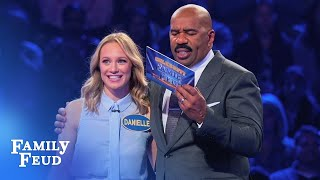 Station 19 are on FIRE in Fast Money! | Celebrity Family Feud