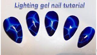 Electric Lightning Nail Art Tutorial   Marble Nails