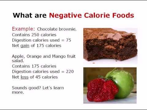 Negative calorie foods what are they youtube for Cuisine 0 calorie