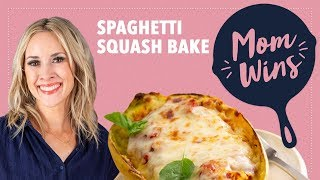 Cheesy Spaghetti Squash Bake with Bev Weidner | Mom Wins | Food Network