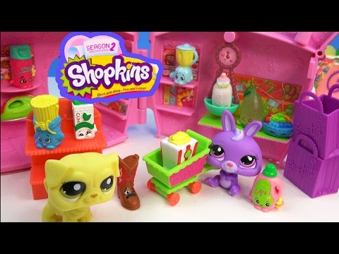 Shopkins Season 2 12 Pack Two Mystery Surprise Blind Bags Supermarket Fun Toy Unboxing