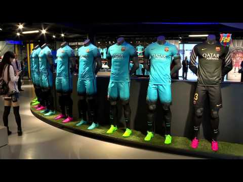 FC Barcelona's electric blue kit is on sale now