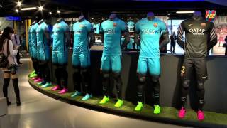 Fc barcelona's new blue 'night rising' strip for the 2015/16 football season is on sale now. starting today, thursday 1 october, all members and fans can com...