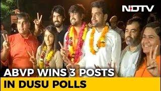Delhi University Polls: ABVP Wins Top Post, 2 More, NSUI Gets 1