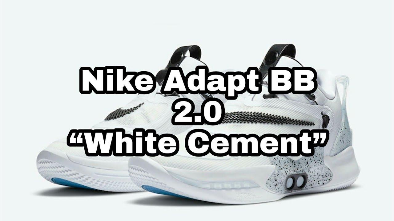 Nike Adapt Bb 2 0 White Cement Shorts Youtube