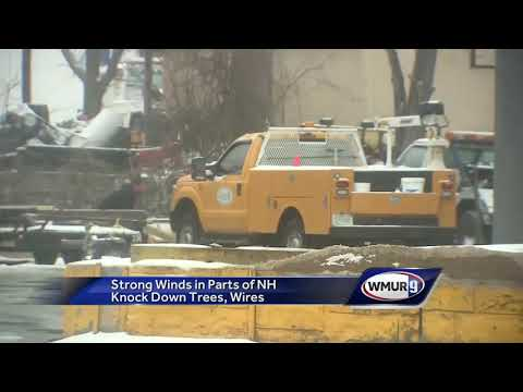 Strong winds in parts of NH knock down trees, wires