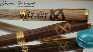 Making a wooden wedding pen set with laser engraving