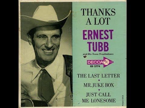 Ernest Tubb  ~ Thanks A Lot ~ Decca ED 2774