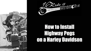how to install highway pegs on a harley davidson