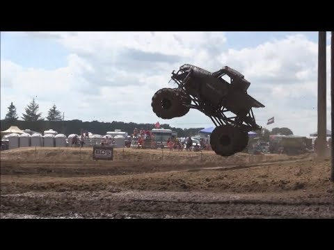 """Disorderly Conduct"" Mega Truck Plays At The Pit At Mid Michigan Mud Fest 2019"