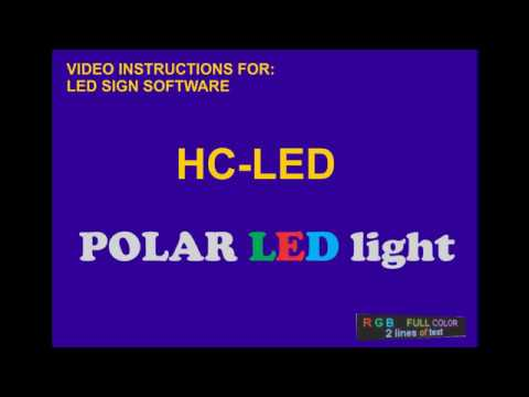 POLAR Led Light 40x11 Video Tutorial HC19