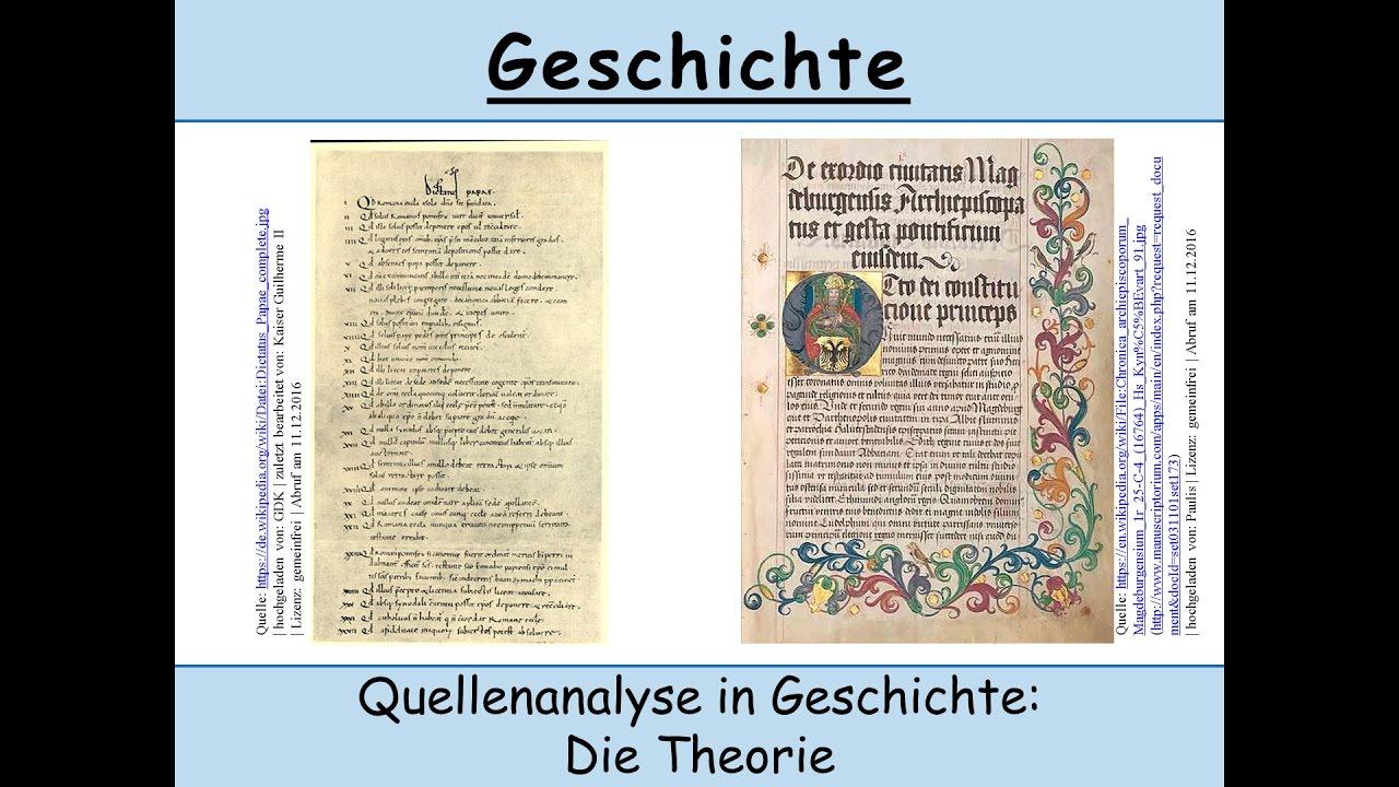 Quellenanalyse In Geschichte Anfertigen Und Schreiben