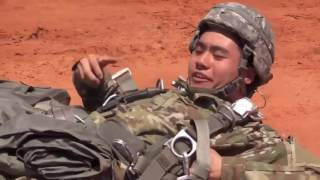 U S  Army Basic Airborne Course • Paratroopers Static Line Jump From C 17