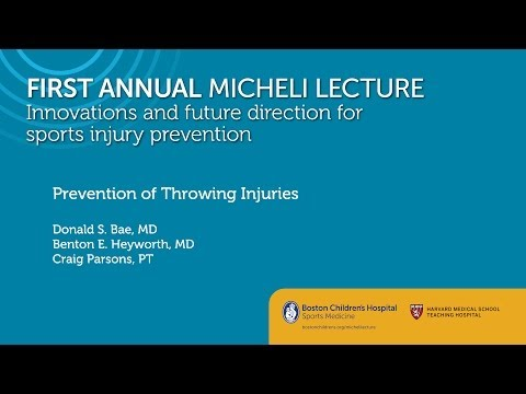 Prevention of Throwing injuries - Sports Medicine Division - Boston Children's Hospital