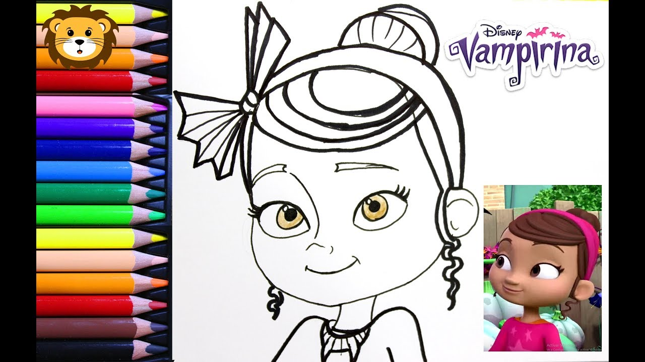 Como Dibujar Poppi Vampirina Disney Dibujos Para Niños Draw And Coloring Book For Kids