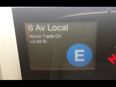 On Board R160 (E) Train From Jackson Heights Roosevelt Avenue to World Trade Center via 6th Avenue