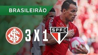 INTERNACIONAL 3 X 1 SÃO PAULO - GOLS - 14/10 - BRASILEIRÃO 2018