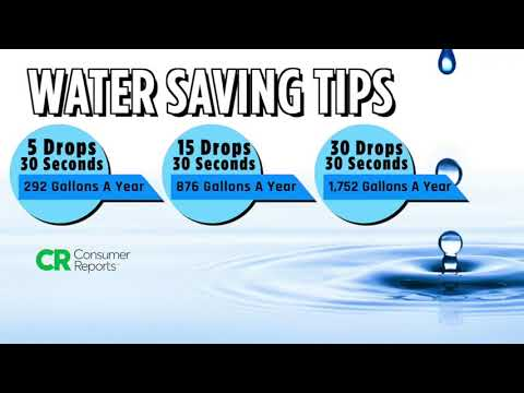 Water usage conservation tips explained