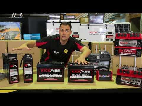 KickAss AGM Deep Cycle Battery Range Overview