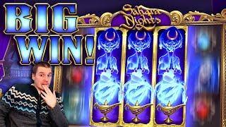 BIG WIN on Sahara Nights Slot - £6 Bet!