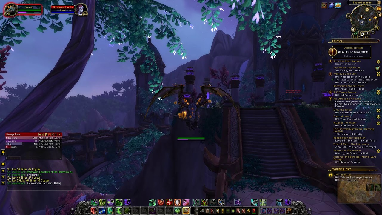 Wow Legion Chapter 12 Part 2 Moon Guard Stronghold Youtube