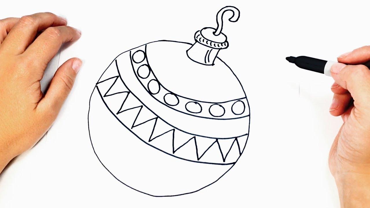 Christmas Drawings.How To Draw A Christmas Ball Christmas Drawings