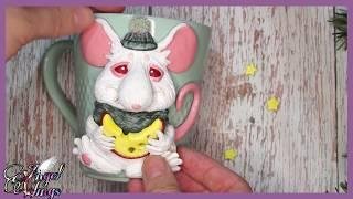Мастер класс кружка с  белой крысой ( +бонус)