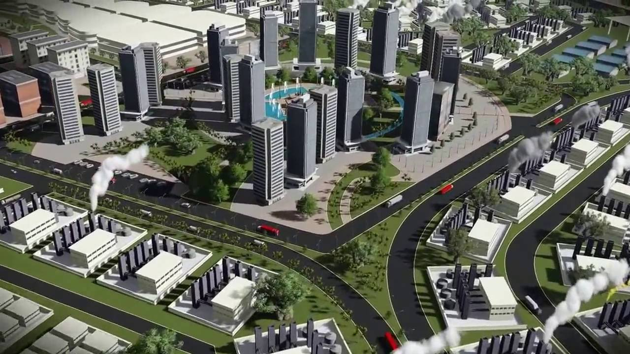 Animation of industrial town urban egypt lumion pro youtube Urban planning and design for the american city