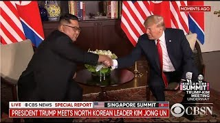 President Trump and Kim Jong Un have met for the first time in Sing...