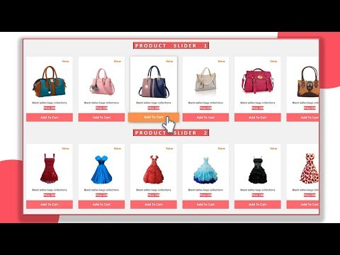 E-Commerce Product Slider Using HTML CSS And JavaScript