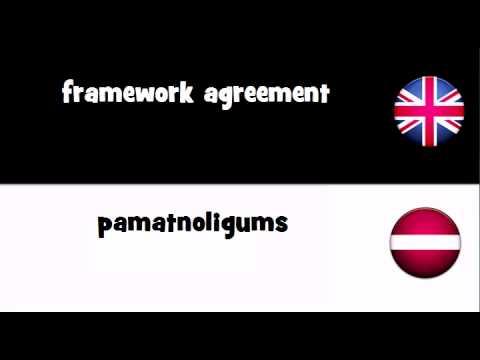 TRANSLATE IN 20 LANGUAGES = framework agreement