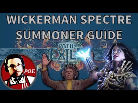 Wickerman Spectre + SRS Summoner budget Necromancer build guide | SSFHC Fall of Oriath 3.0 PoE