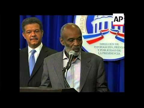 4:3 Visiting Haitian President Preval comments on Duvalier