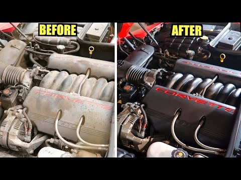 FILTHY $2200 C5 Corvette Gets SUPER CLEAN Engine Bay Detail! (Easy How To)