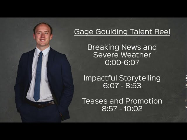 Gage Goulding TV News Reporter Demo Reel - August 2020